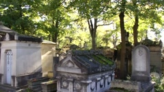 Above Ground Cemetery - Paris, France Stock Footage