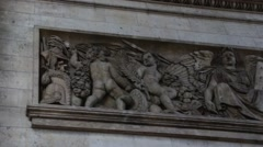 Angels and Demons Embedded Sculpture - Paris, France Stock Footage