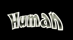 Human Jump and Dance 3D Text Animation Stock Footage
