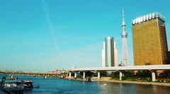Tokyo Sky Tree, the tallest tower in the world Stock Footage