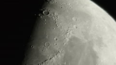 moon craters schmidt-cassegrain - stock footage