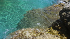 Clear blue water of the mediterranean sea. No people. Stock Footage