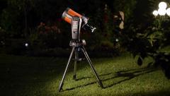 Schmidt cassegrain telescope backyard 4/4 Stock Footage