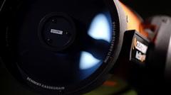 Schmidt cassegrain telescope moon reflection 1/4 Stock Footage