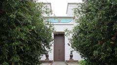 Egyptian Museum Artistic Building Door Stock Footage