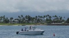 Kahului Bay Boat Stock Footage