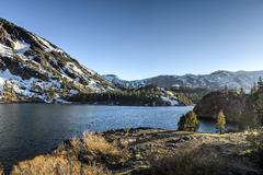 inyo national forest - ellery lake - yosemite - stock photo