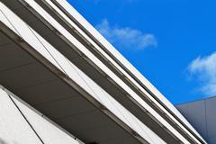 Angular building blue sky Stock Photos