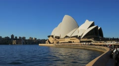 Sydney opera house from circular quay Stock Footage