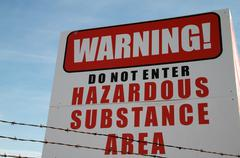toxic site cancer warning b - stock photo