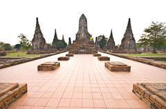 Wat Chaiwattanaram - stock photo