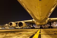 Under the Airplane - stock photo