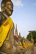 Wat Yai Chai Mongkol - stock photo