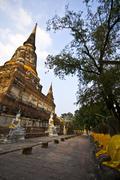 Wat Yai Chai Mongkol Stock Photos