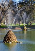 beehive fountains - stock photo