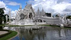 Around Wat Rong Khun. Stock Footage