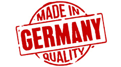 Red Rubber Stamp Made In Germany - stock footage