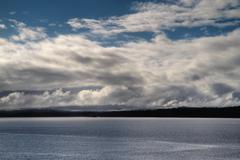 juan de fuca cloudscape - stock photo