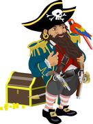 pirate illustration - stock illustration