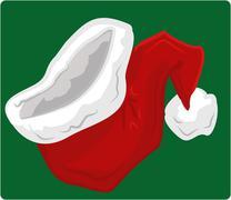 Stock Illustration of santa hat illustration