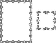 Art Deco borders - stock illustration