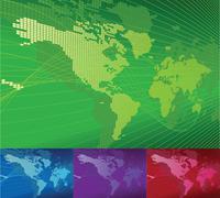 Dynaaminen 3d maailman kartta taustalla. Piirros