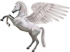 Rearing pegasus horse illustration Stock Illustration