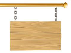 Wood suspended sign illustration Stock Illustration