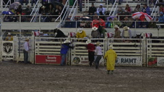 Rodeo cowboys ready at chute night HD 284 Stock Footage