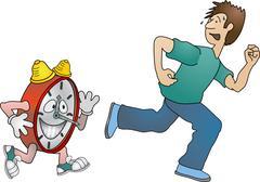 Running against the clock Stock Illustration