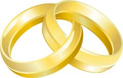 wedding bands or rings - stock illustration