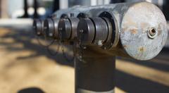 Brass city fire hydrant closeup Stock Photos