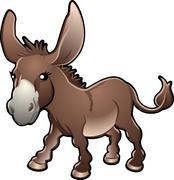 Söpö Donkey vektori kuva Piirros