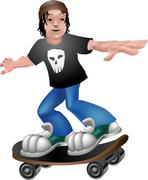 Skater illustration Stock Illustration