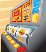 Slot machine illustration Stock Illustration