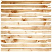 Stock Illustration of damaged wood pieces of fir planks isolated over white