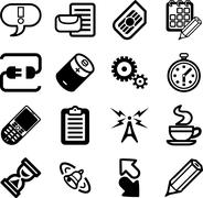 vector Mobile Phone Applications GUI Icon Series - stock illustration