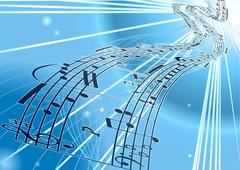 Vector Sheet music background Stock Illustration