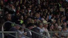 Rodeo crowd in stands night 4K 275 Stock Footage