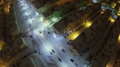 Street traffic among identical houses of Koshelev project Stock Footage