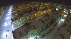 Urban sector with identical houses of Koshelev project Stock Footage