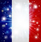 French flag background - stock illustration