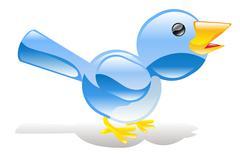 Twitter ING sininen lintu kuvake Piirros