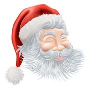 Christmas Santa Claus Face - stock illustration