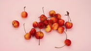 Stock Video Footage of Eating Fresh Sweet Delicious Rainier Cherries