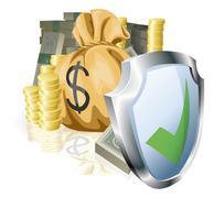 Secure money concept Stock Illustration