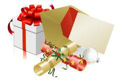 Christmas letter or invite scene - stock illustration