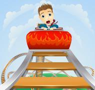 Business roller coaster ride concept Stock Illustration