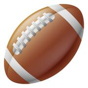 American football ball Stock Illustration