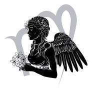 Virgo zodiac horoscope astrology sign Stock Illustration